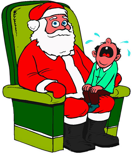Santa claus with child on lap clipart jpg library stock Free Christmas Clipart - Children On Santa\'s Lap jpg library stock