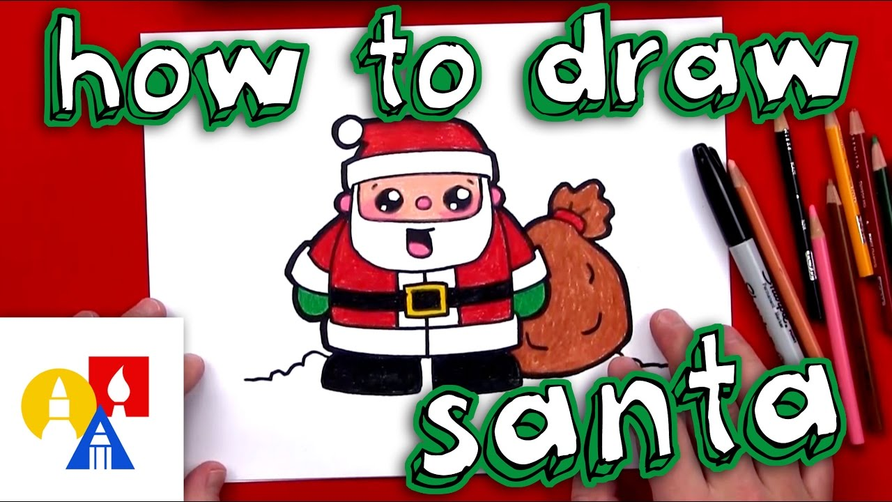 Santa claus with child on lap clipart clip royalty free download How To Draw Cartoon Santa Claus clip royalty free download