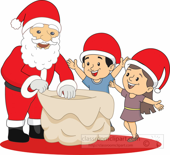 Santa claus with child on lap clipart png freeuse stock Christmas Clipart Clipart- Santa-giving-gi #123404 ... png freeuse stock