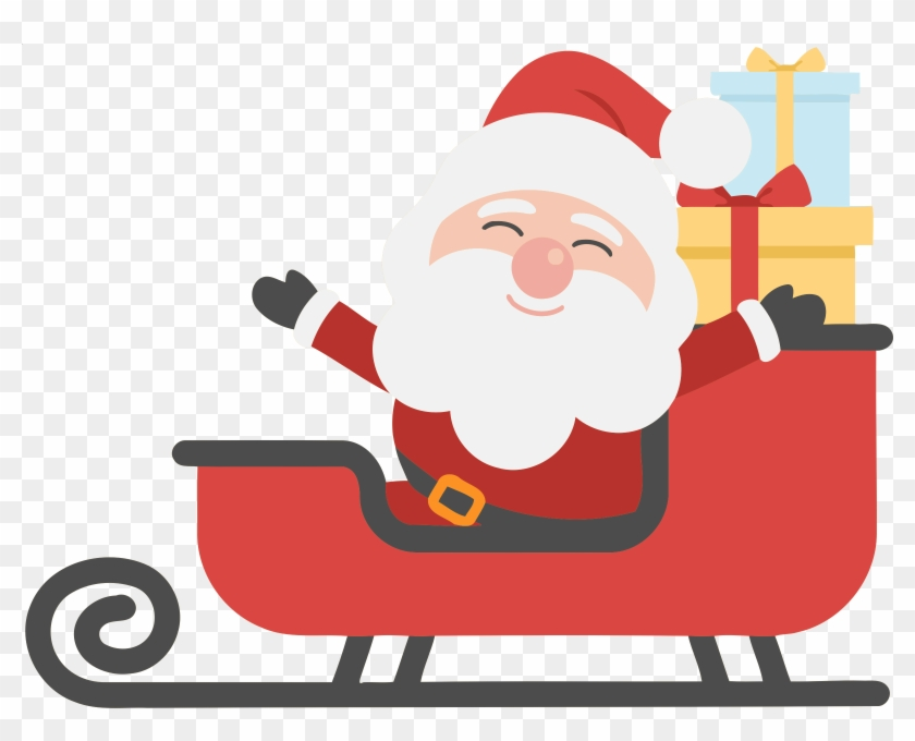 Sleigh santa claus clipart picture royalty free Sleigh Clipart Big Santa - Christmas Tree And Santa Clipart ... picture royalty free