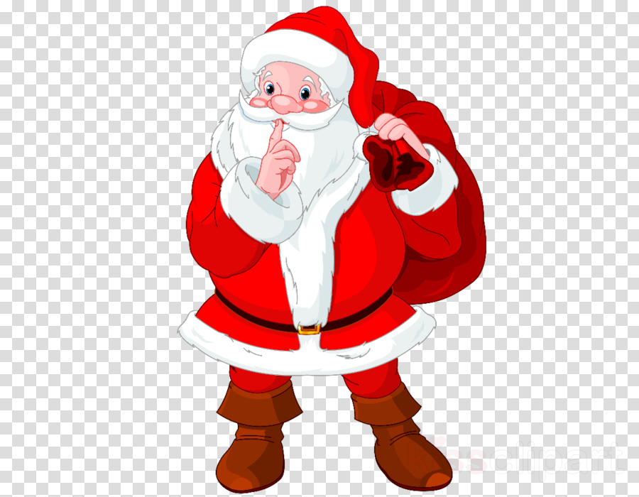 Santa clipart free download image black and white library Christmas Gift Cartoontransparent png image & clipart free ... image black and white library