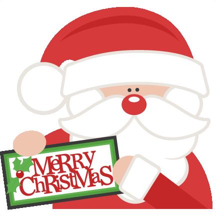 Santa clipart svg black and white stock Merry Christmas Santa SVG scrapbook cut file cute clipart files ... black and white stock