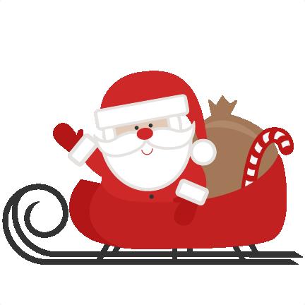 Santa clipart svg graphic freeuse download Santa clipart and sleigh - ClipartFest graphic freeuse download