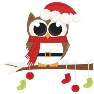 Santa clipart svg jpg royalty free download Santa Owl scrapbook clip art christmas cut outs for cricut cute ... jpg royalty free download