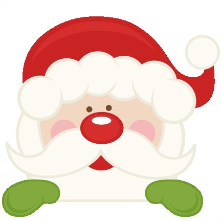 Santa clipart svg picture freeuse Free peeking santa clipart - ClipartFest picture freeuse