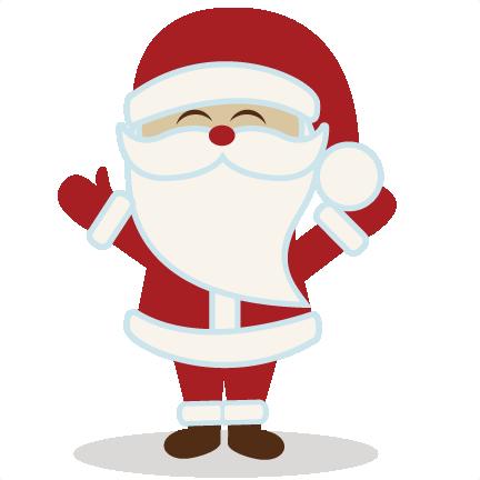 Santa clipart svg clip art royalty free library Cute Christmas Santa Clipart - Clipart Kid clip art royalty free library
