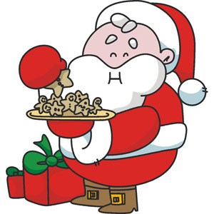 Santa eating clipart picture royalty free Santa eating cookies clipart 3 » Clipart Portal picture royalty free