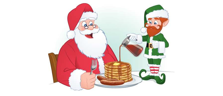 Santa eating breakfast clipart jpg transparent library St. David School invites community to annual Breakfast with ... jpg transparent library