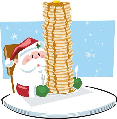 Santa eating breakfast clipart jpg royalty free Breakfast with Santa – The East Rockaway Gull jpg royalty free