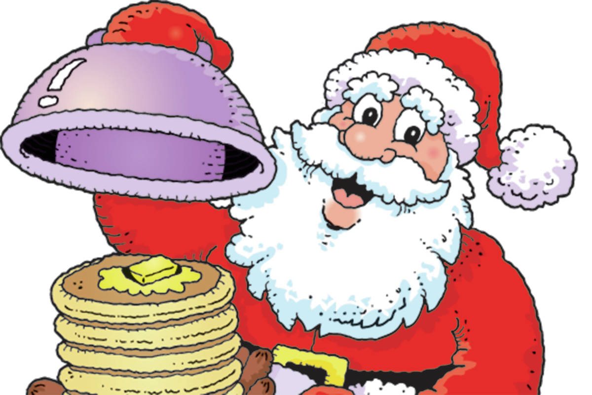 Santa eating breakfast clipart clip art free library Breakfast With Santa, Dec. 9 at Barriere Lions Hall ... clip art free library