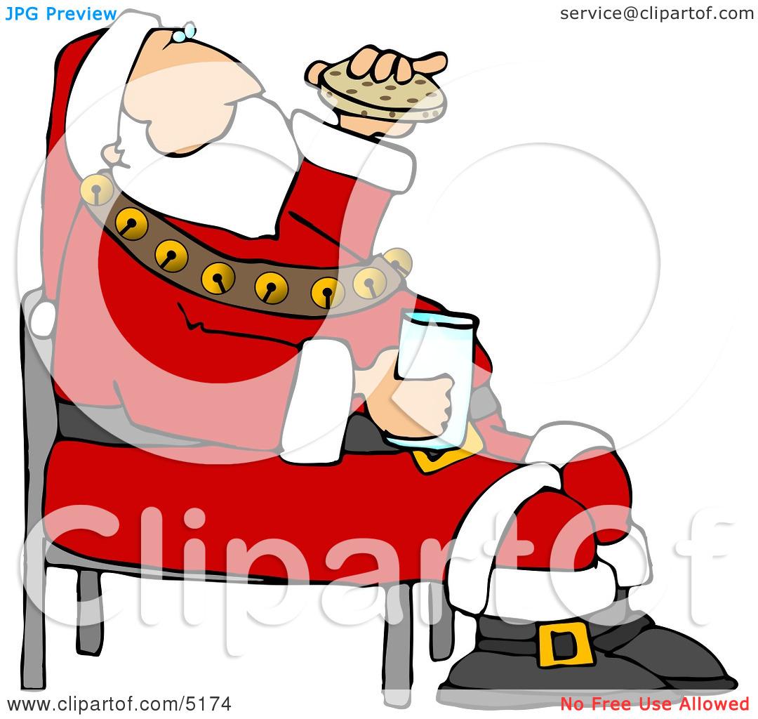 Santa eating clipart vector library stock Santa Eating Chocolate Chip | Clipart Panda - Free Clipart ... vector library stock