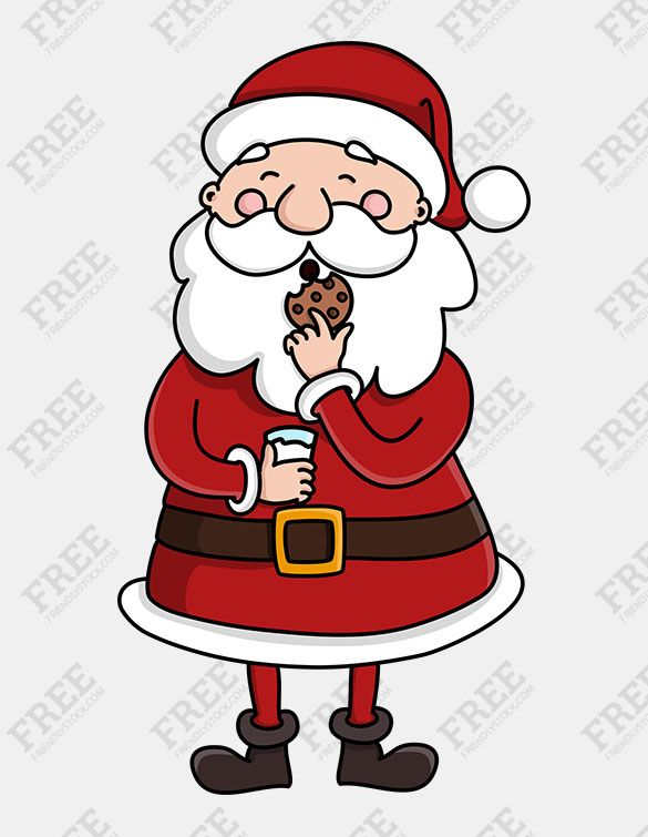 Santa eating clipart svg library stock Free Graphic] Santa Claus Eating A Cookie | ♦️Printables ... svg library stock