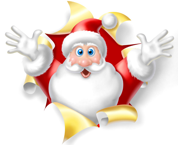 Santa eating clipart png black and white library Free Cartoon Santa Pictures, Download Free Clip Art, Free ... png black and white library