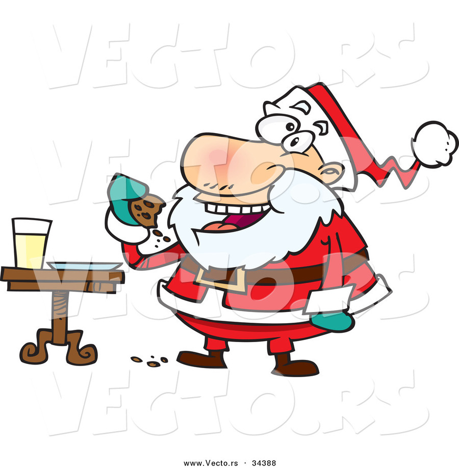 Santa eating cookies clipart picture freeuse download Download cartoon santa eating cookies clipart Santa Claus ... picture freeuse download