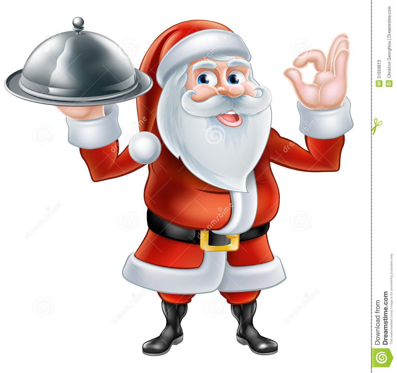 Santa eating pizza clipart picture transparent stock Cartoon Santa Claus Holding Pizza Stock Ve #129611 ... picture transparent stock