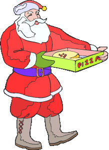 Santa eating pizza clipart transparent library rules transparent library