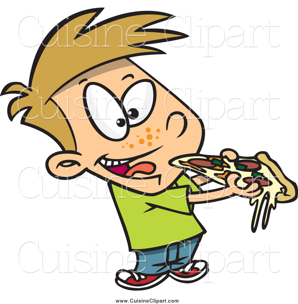 Santa eating pizza clipart svg freeuse download Cuisine Clipart of a Cartoon Boy Eating Cheesy Pizza by ... svg freeuse download