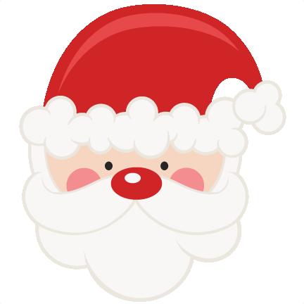 Santa face clipart free stock Santa SVG scrapbook cut file cute clipart files for ... free stock