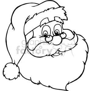 Santa face clipart black and white svg transparent Santa face clipart black and white 3 » Clipart Portal svg transparent