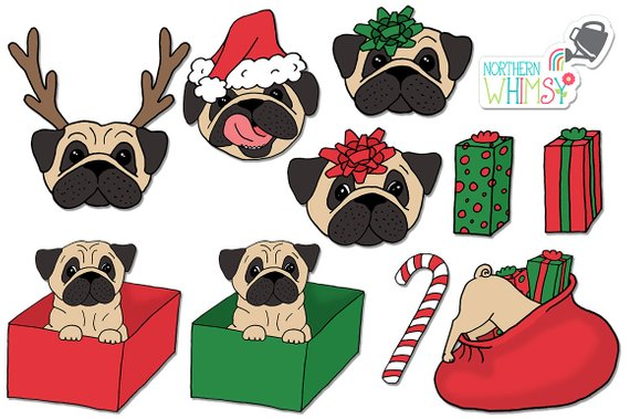 Santa hairy puppy clipart jpg transparent download Christmas Clip Art - \