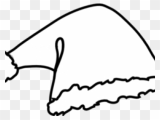 Santa hat clipart black and white free picture black and white library Free PNG Black And White Santa Clip Art Download - PinClipart picture black and white library