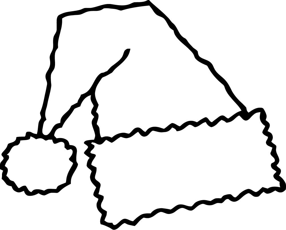 Santa hat clipart black and white free picture transparent library Free Santa Hat Clip Art Black And White, Download Free Clip ... picture transparent library