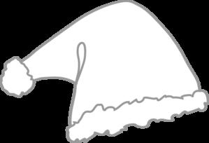 Santa hat clipart black and white free svg royalty free Santa Hat White Clip Art at Clker.com - vector clip art ... svg royalty free