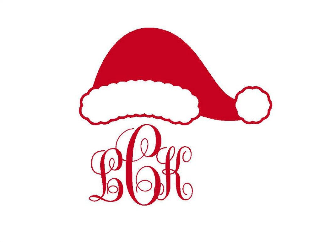 Santa hat clipart svg clip art download Santa hat clipart monogram - ClipartFest clip art download