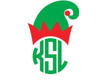 Santa hat clipart svg banner black and white stock Santa hat clipart monogram - ClipartFest banner black and white stock