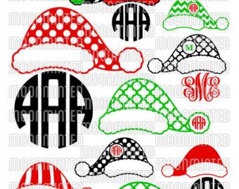 Santa hat clipart svg picture free Santa hat clipart monogram - ClipartFest picture free