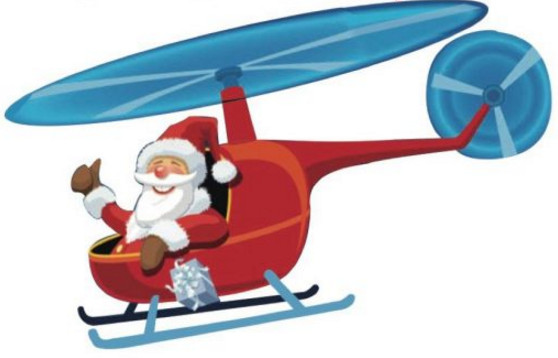 """Santa in helicopter clipart clip transparent download West End Food Pantry is proud to present """"Santa Is Cleared ... clip transparent download"""
