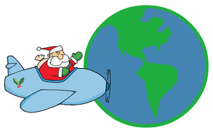 Santa in helicopter clipart clipart free library Free Delivery Clipart Image 0521-1009-1012-5702 | Airplane ... clipart free library