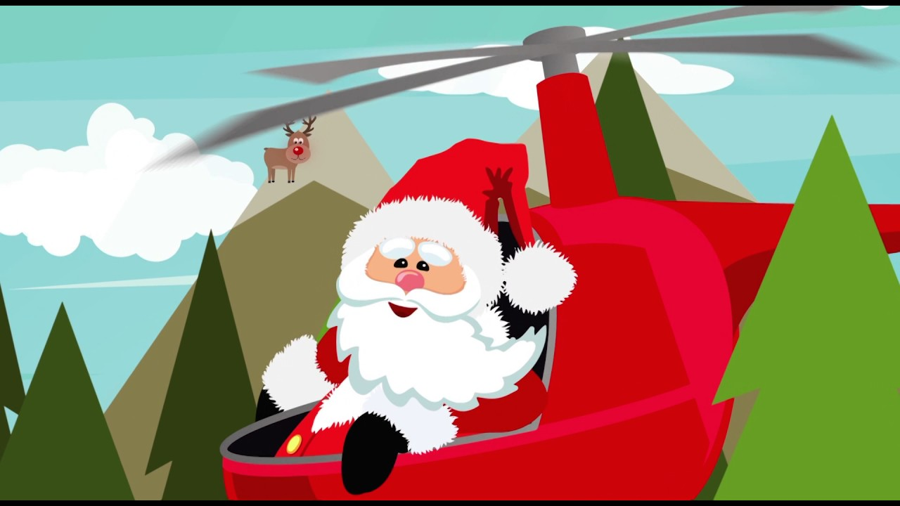 Santa in helicopter clipart png transparent stock Santa\'s Helicopter Arrival at Crossroads Mall png transparent stock