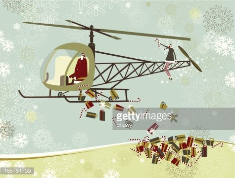 Santa in helicopter clipart vector freeuse download Santa\'s Christmas Helicopter premium clipart - ClipartLogo.com vector freeuse download