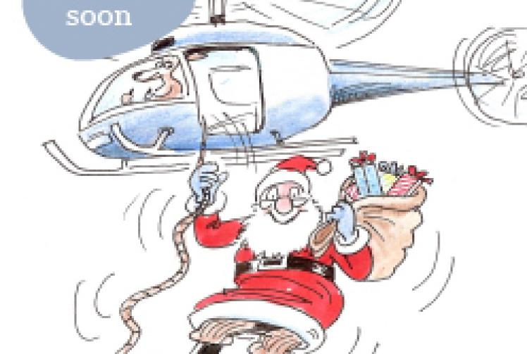 Santa in helicopter clipart clip art free download Santa\'s Arrival by Helicopter - Maidenhead Advertiser clip art free download