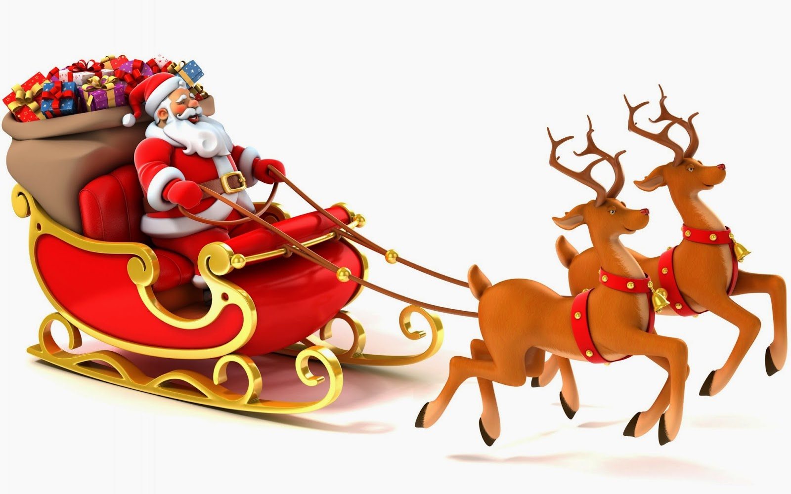 Sled santa clipart image black and white library Free Sleigh Cliparts, Download Free Clip Art, Free Clip Art ... image black and white library