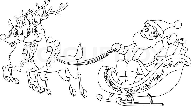 Santa in slegh mark your calander clipart image royalty free download How To Draw Santa Claus Easy   Search Results   New Calendar ... image royalty free download