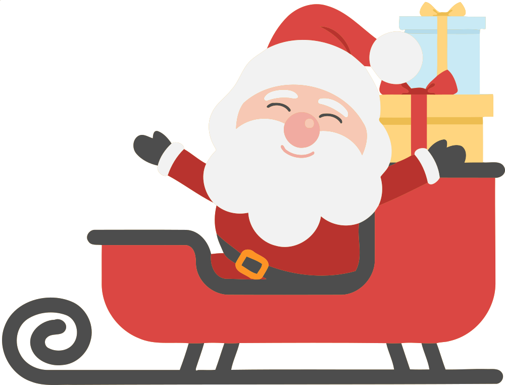 Clipart santa in sleigh banner royalty free stock OnlineLabels Clip Art - Santa And Sleigh 2 banner royalty free stock