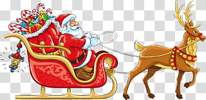 Santa in sleigh with reindeer clipart clip download Santa Claus Sled , santa sleigh transparent background PNG ... clip download
