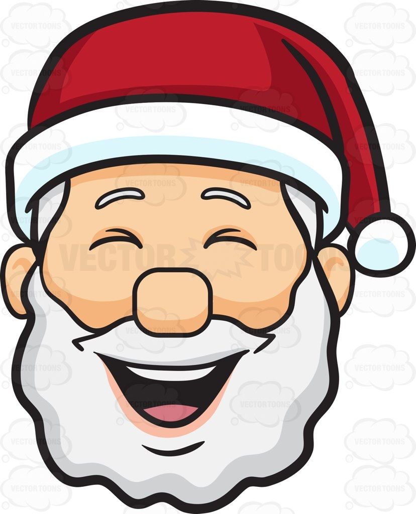 Santa laughing clipart jpg library library A laughing face of Santa Claus #cartoon #clipart #vector ... jpg library library