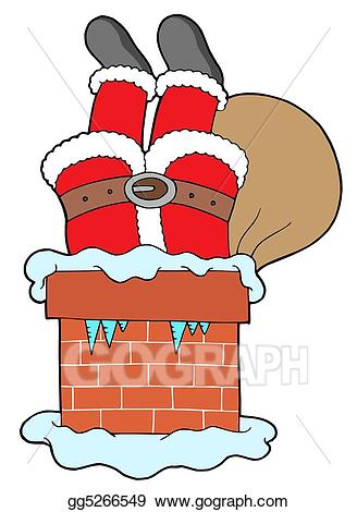 Santa legs clipart banner free download Stock Illustration - Santa clauses legs with chimney ... banner free download