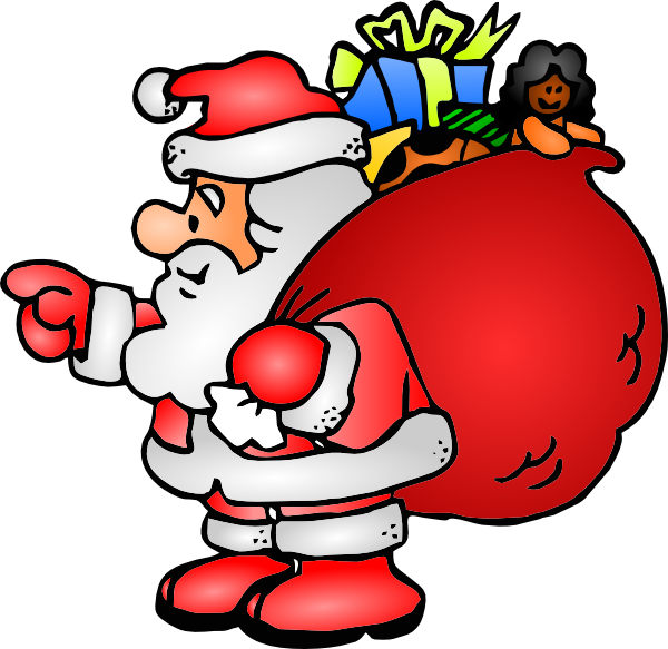 Santa list clip art picture transparent download Santa Claus With His Bag Clip Art at Clker.com - vector clip art ... picture transparent download