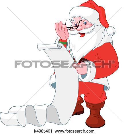 Santa list clip art picture free Santa list Clip Art EPS Images. 694 santa list clipart vector ... picture free