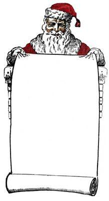 Santa list clip art graphic black and white Naughty Or Nice List Clipart - Clipart Kid graphic black and white