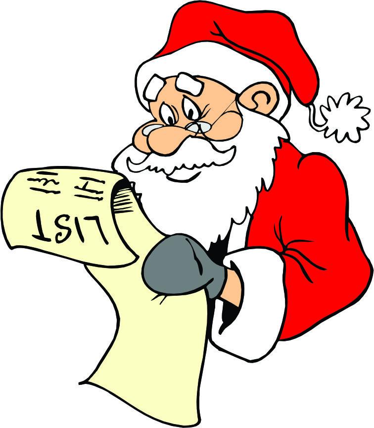 Santa list clip art graphic free stock Santa list clipart - ClipartFest graphic free stock
