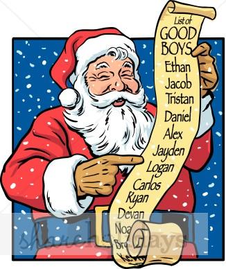 Santa list clip art clip free stock Naughty Santa Clipart - Clipart Kid clip free stock