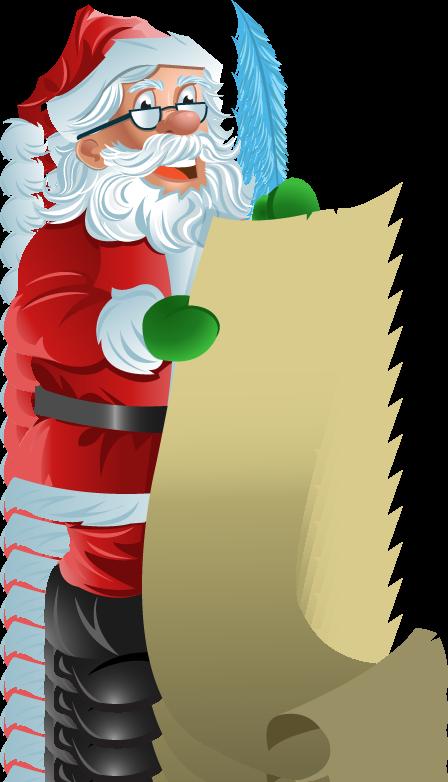 Santas christmas list clipart black and white download Santa Checking List Clip Art – Clipart Free Download black and white download