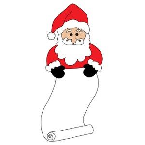 Santa list clip art royalty free library Naughty Santa Clipart - Clipart Kid royalty free library