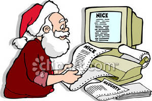 Santa list clipart jpg freeuse stock Naughty Santa Clipart - Clipart Kid jpg freeuse stock