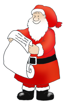 Santa list clipart png black and white stock Funny Santa Clipart - Clipart Kid png black and white stock
